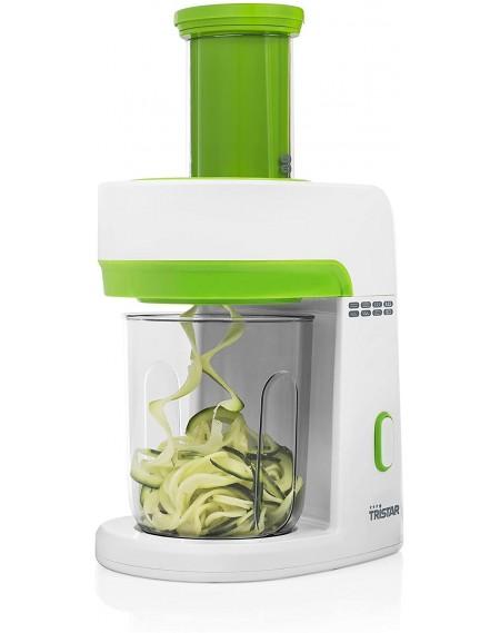 Taglia verdure a spirale TRISTAR 120W Colore Bianco e Verde 4 Lame in Acciaio Cod. MX-4816