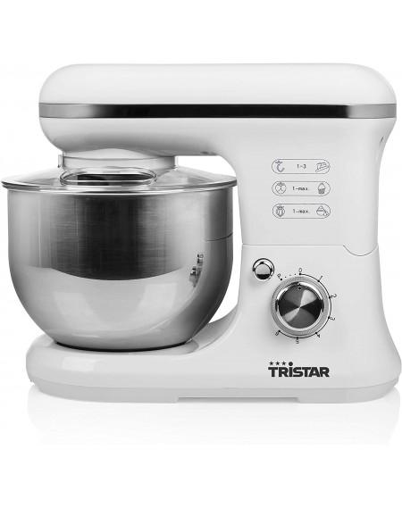 Impastatrice da cucina TRISTAR 1200 W, 5 litri Colore Acciaio Inox, Bianco Cod: MX-4817