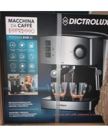 Macchina caffè Espresso DICTROLUX 850 W, 1.6 Litri, Acciaio Inossidabile cod: 882000