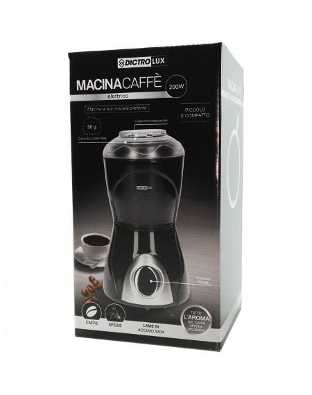 Macinacaffè Elettrico DICTROLUX Macina Trita Chicchi Caffè e spezie 200 Watt cod: 892117