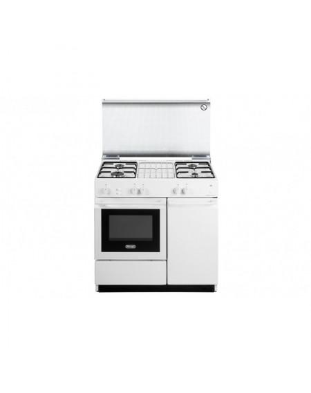 Cucina DE LONGHI a Gas 4 Fuochi e Forno a Gas con grill elettrico Colore Bianco cod: SGGW 854 N