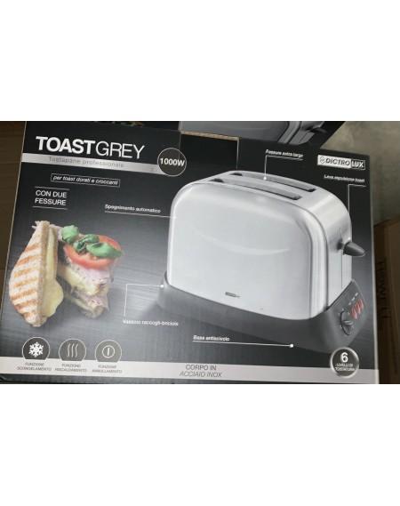 Tostapane DICTROLUX ToastGrey 1000W 3 Funzioni Cod. 873304